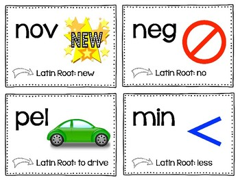 Greek and Latin Root Words - Word Wall Cards - Root Word Task Cards