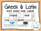 Greek and Latin Root Words - Word Wall Cards - Root Word T