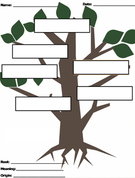 Greek and Latin Root Worksheet
