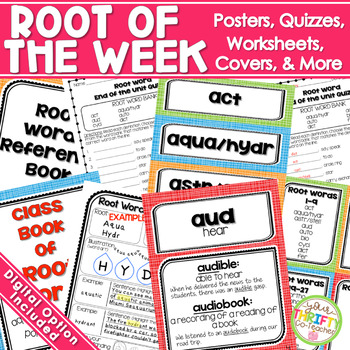 Root of the Week - Greek and Latin (Posters, Worksheets, Mini Quizzes)