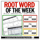 Greek and Latin Root of the Week {Rolodex & Daily Practice Activities}