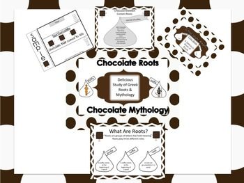 Greek and Latin Root/Prefix & Suffix Common Core Chocolate Activity-Vocabulary