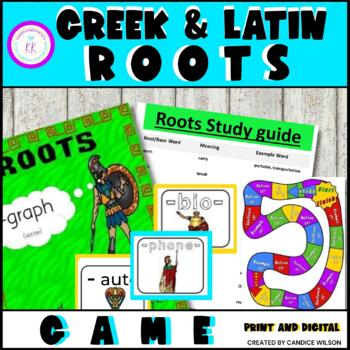 """Greek and Latin Roots """"On Demand"""" Board Game"""