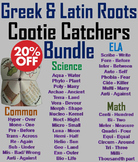 Greek and Latin Roots Activities Bundle: Vocabulary Practice 4th to 8th Grade