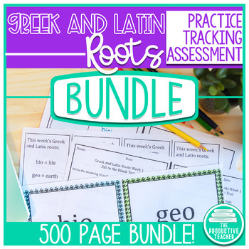 Greek and Latin Roots - All Year Bundle
