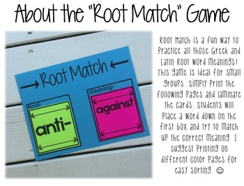 Root of the Day: Greek and Latin Roots EDITABLE