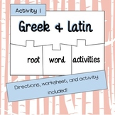 Greek and Latin Roots Activity
