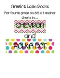Greek and Latin Roots Anchor Charts in Chevron and Polka Dot