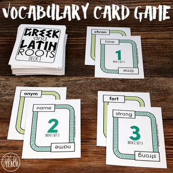 Greek and Latin Roots Card Game
