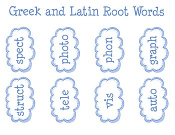 Greek and Latin Roots Card Sort