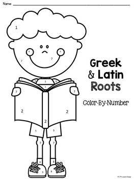 Greek and Latin Roots Color-By-Number