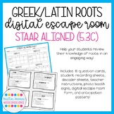 Greek and Latin Roots Digital Escape Room (STAAR Aligned;