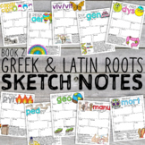 Greek and Latin Roots Sketch Notes [Book 2]