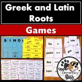 Greek and Latin Roots Games, BINGO, concentration, I have