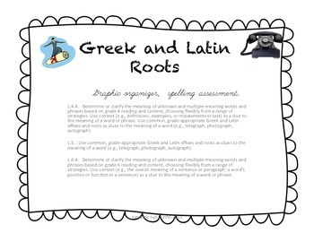 Greek and Latin Roots Graphic Organizer