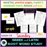 Greek and Latin Roots Lesson with Quiz - Common Core - STA