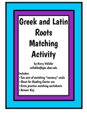 Greek and Latin Roots Matching Center