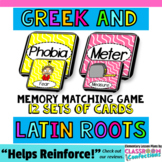 Greek and Latin Roots: Literacy Center: Grammar Game: 4th grade, 3rd, 5th