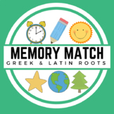 Greek and Latin Roots Memory Match