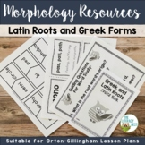 Greek and Latin Roots Morphology Activities for the Orton-Gillingham Approach