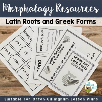Greek and Latin Roots Morphology Activities for the Orton-