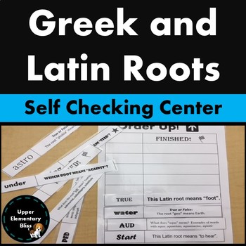 Greek and Latin Roots Order Up Self Checking Center