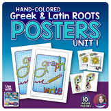 Greek and Latin Roots POSTERS Set - UNIT 1