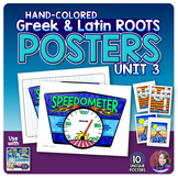 Greek and Latin Roots POSTERS Set - UNIT 3