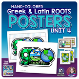 Greek and Latin Roots POSTERS Set - UNIT 4
