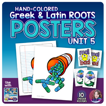 Greek and Latin Roots POSTERS Set - UNIT 5