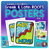 Greek and Latin Roots POSTERS Set - Vol. 2