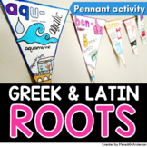 Greek and Latin Roots Pennant Activity Distance Learning