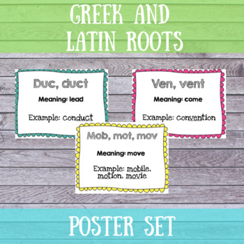 Greek and Latin Roots Posters- Editable!!!