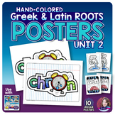 Greek and Latin Roots POSTERS Set - UNIT 2