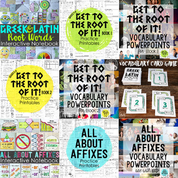 Greek and Latin Roots, Prefixes, Suffixes Ultimate Bundle