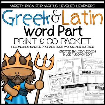 Greek and Latin Roots, Prefixes, and Suffixes {Printable A