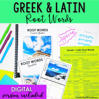 Greek and Latin Root Words 8th Grade - Student Centered Learning Activity