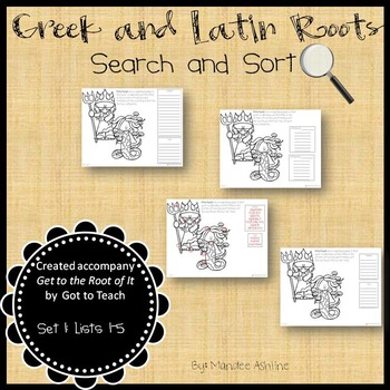 Greek and Latin Roots Search and Sort