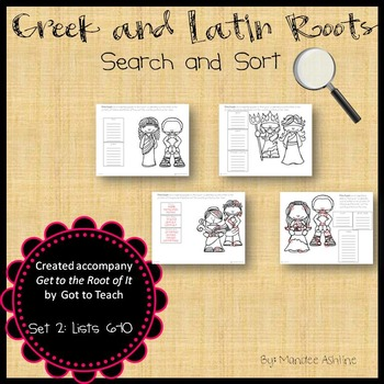 Greek and Latin Roots Search and Sort Set 2