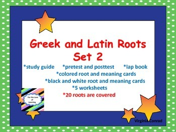Greek and Latin Roots:  Set 2