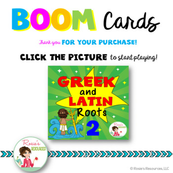 Greek and Latin Roots Set 2 - Boom Cards