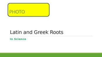 Greek and Latin Roots Stations: Words with PHOTO