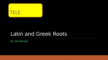 Greek and Latin Roots Stations: Words with TELE