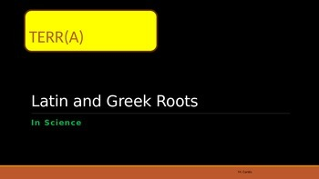 Greek and Latin Roots Stations: Words with TERRA