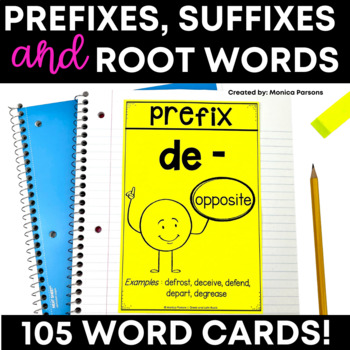 Greek and Latin Roots, Suffixes and Prefixes Vocabulary Cards
