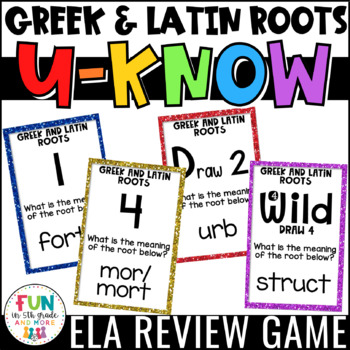 Greek and Latin Roots Game: U-Know {Vocabulary Game}