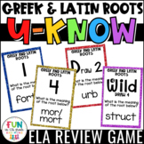 Greek and Latin Roots Game for Literacy Centers: U-Know {V