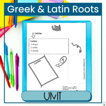 Greek and Latin Roots Unit