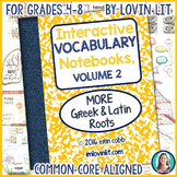 Greek and Latin Roots: Vocabulary Activities, VOLUME 2 (Su