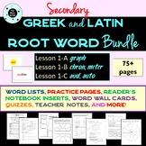 Greek & Latin Roots Bundle - Vocabulary - 3 Lessons - grap